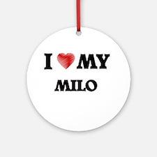 I love my Milo Round Ornament