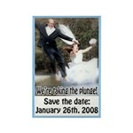 Save the Date 4 Rectangle Magnet (100 pack)