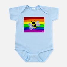 Gay bee rainbow art Body Suit