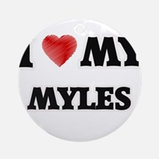 I love my Myles Round Ornament