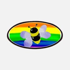 Gay bee rainbow art Patch
