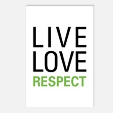 Live Love Respect Postcards (Package of 8)