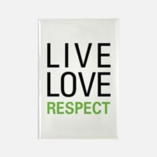 Live Love Respect Rectangle Magnet (10 pack)