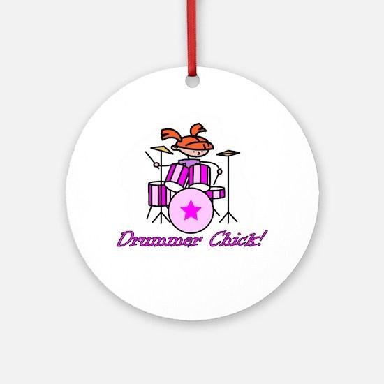 Drummer Chick Ornament (Round)