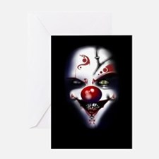 Evil Clown Greeting Cards