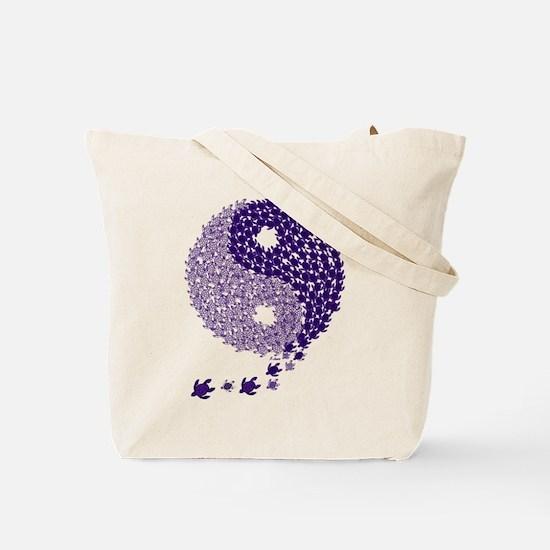 Turtle Yin Yang Tote Bag