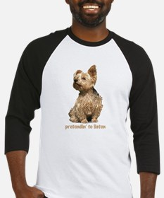 """all ear yorkie"" Baseball Jersey"