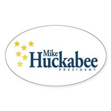 Huckabee for President Oval Decal