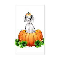 MerleQ Pumpkin Dane UC Rectangle Decal