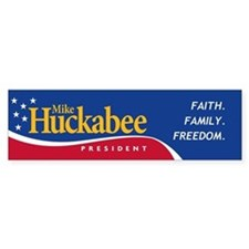 Mike Huckabee for President Bumper Car Sticker