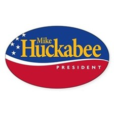 Mike Huckabee for President Oval Decal