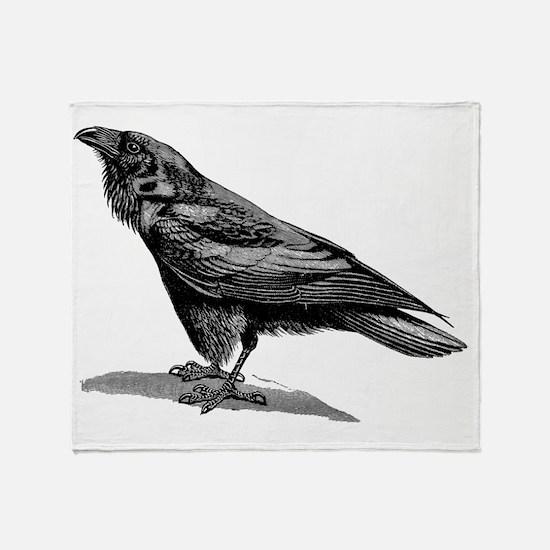 Cute Crow Throw Blanket