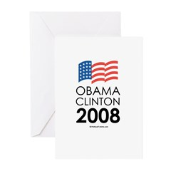 Obama / Clinton 2008 Greeting Cards (Pk of 20)