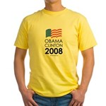 Obama / Clinton 2008 Yellow T-Shirt