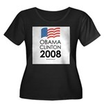 Obama / Clinton 2008 Women's Plus Size Scoop Neck