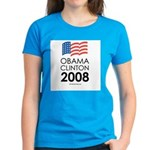 Obama / Clinton 2008 Women's Dark T-Shirt