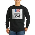 Obama / Clinton 2008 Long Sleeve Dark T-Shirt