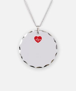 Holiday nurse Necklace Circle Charm
