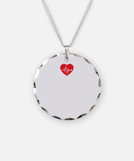 Cool Holiday nurse Necklace Circle Charm