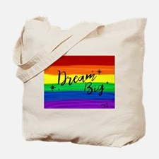 Dream big gay rainbow art Tote Bag