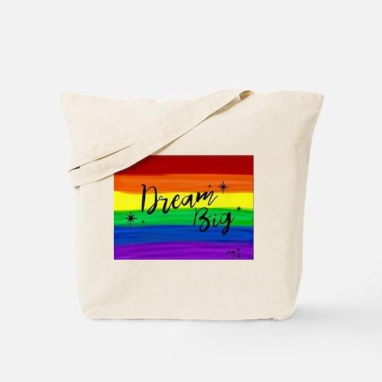 Dream big gay rainbow art Tote Bag