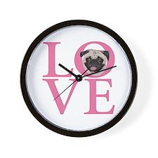 Love Pug - Wall Clock
