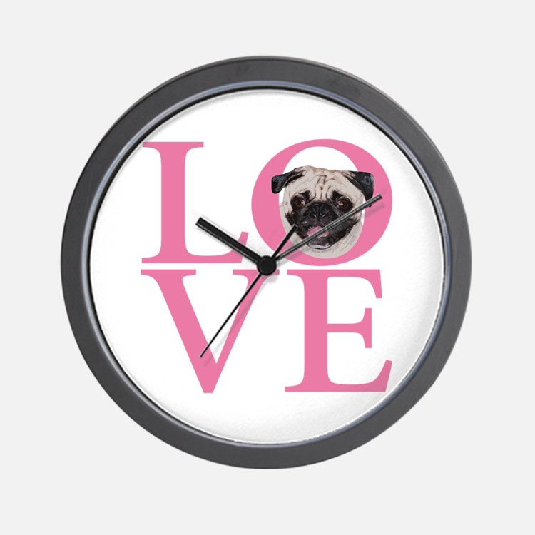 Love Pug - Wall Clock