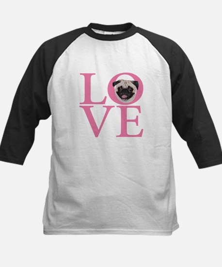 Love Pug - Kids Baseball Jersey