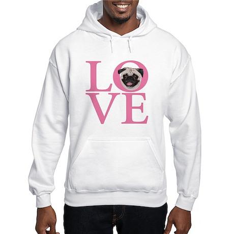 Love Pug - Hooded Sweatshirt