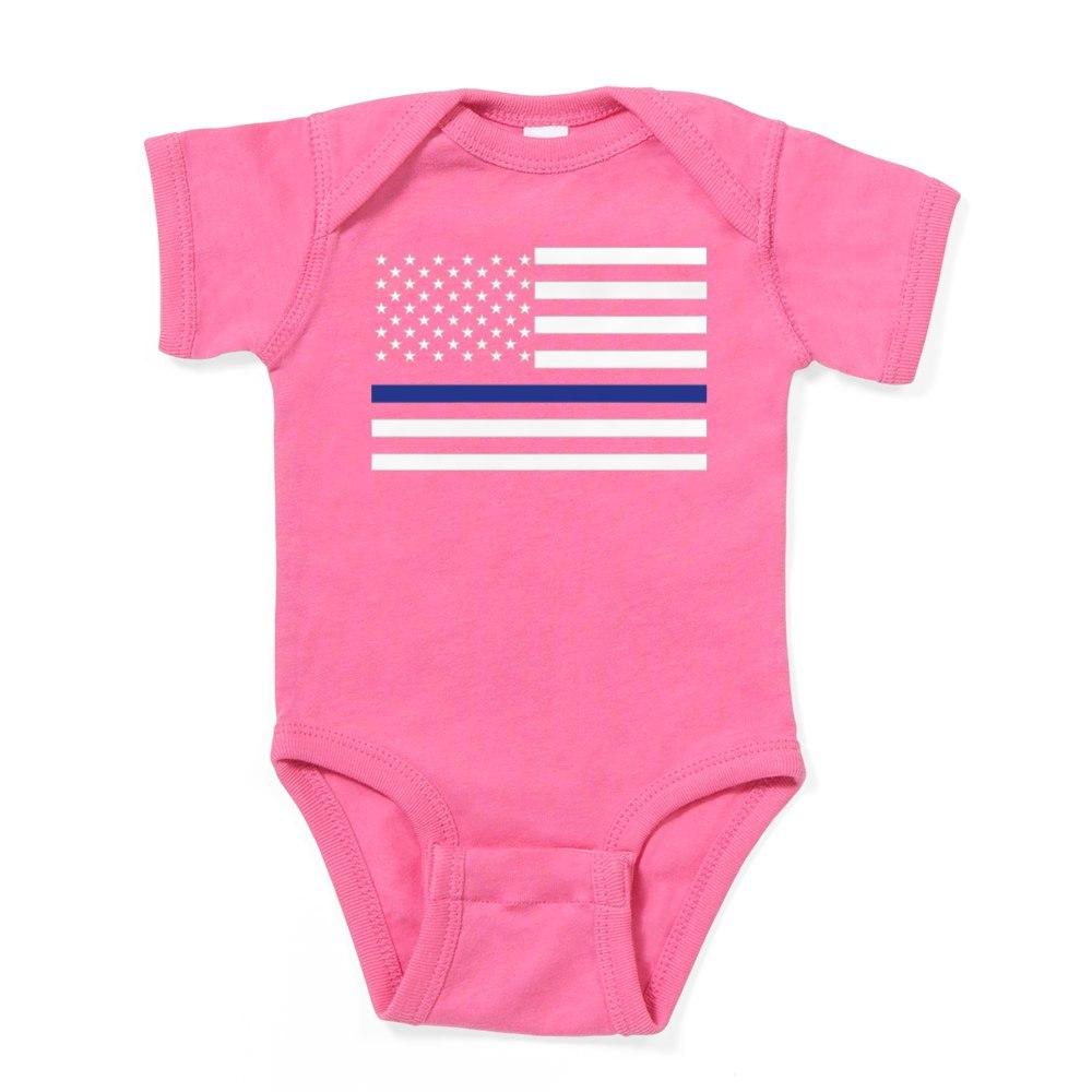 1792604983 CafePress Thin Blue Line Cute Infant Bodysuit Baby Romper