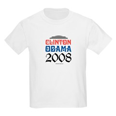 Clinton / Obama 2008 Kids Light T-Shirt