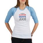 Clinton / Obama 2008 Jr. Raglan
