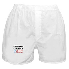 Clinton / Obama 2008 Boxer Shorts