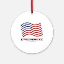 Clinton / Obama 2008 Ornament (Round)