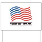 Clinton / Obama 2008 Yard Sign