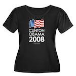 Clinton / Obama 2008 Women's Plus Size Scoop Neck