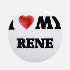 I love my Rene Round Ornament