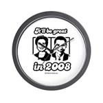 Clinton Obama: It'll be great in 2008 Wall Clock