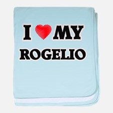 I love my Rogelio baby blanket