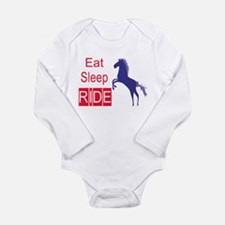 Eat Sleep Ride Baby Horse Lover Body Suit