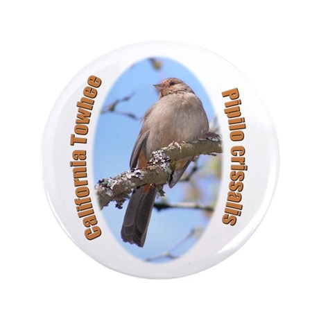 "California Towhee 3.5"" Button (100 pack)"