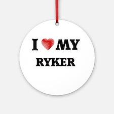 I love my Ryker Round Ornament