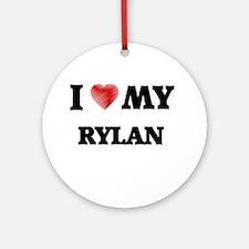 I love my Rylan Round Ornament