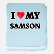 I love my Samson baby blanket