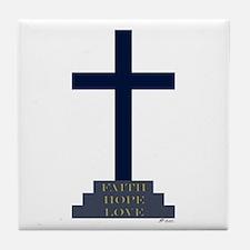 Calvary Cross Tile Coaster