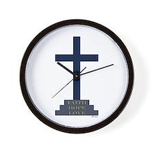Calvary Cross Wall Clock