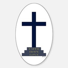 Calvary Cross Oval Decal
