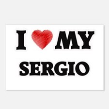 I love my Sergio Postcards (Package of 8)