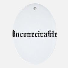 Cute Ironic Oval Ornament