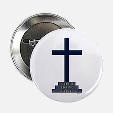 Calvary Cross Button